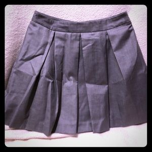 Gray Pleated Forever 21 Small Gray Skirt